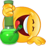 laughing emoji with a bong