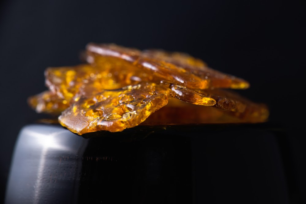 Up-close of shatter