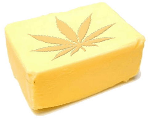 block of cannabutter