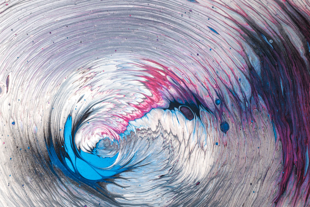 colorful water wave like barrel